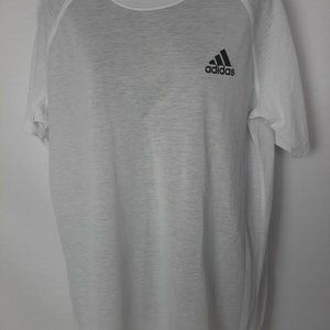 Addidas White Basic Tee Shirt Sz L
